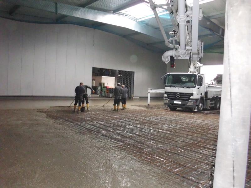 Industrieboden-Erweiterung