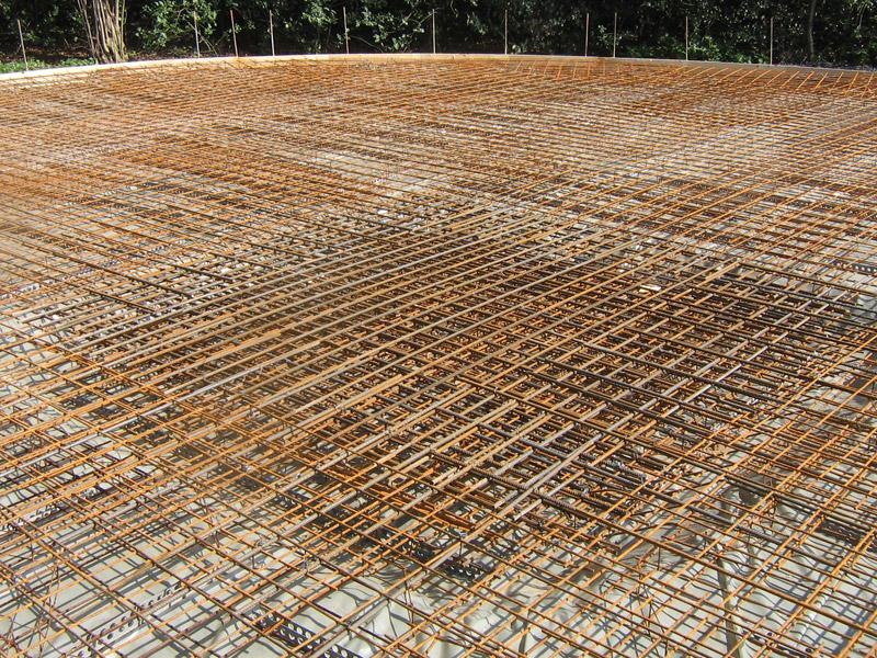 Neubau Sohlenplatte für einen Güllebehälter
